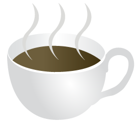 Image of a steaming cup of coffee