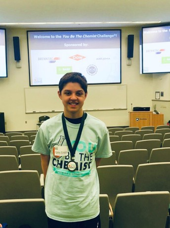 "Jonathan Weinstein Places at the ""You Be A Chemist Challenge"" at Penn State University"
