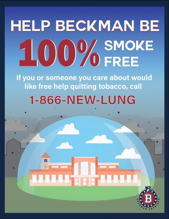 "Congratulations Tashu Vakil - ""Help Beckman Be Smoke Free"""