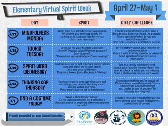 Virtual Spirit Week Coming April 27-May 1st