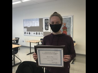 Chatham Rotary Club February Student of the Month