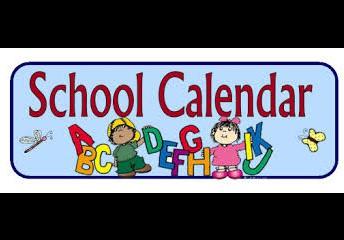 School Calendar 2019 - 2020