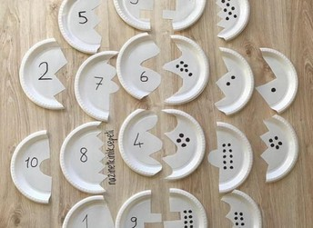 Make a math puzzle with paper plates