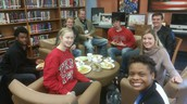 Student Panel eating lunch