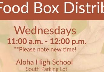 Food Boxes at AHS