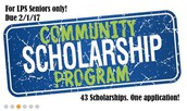 Graduating Seniors: The Community Scholarship Program is NOW OPEN