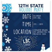 Holiday Party, Dec 10th 7-10pm