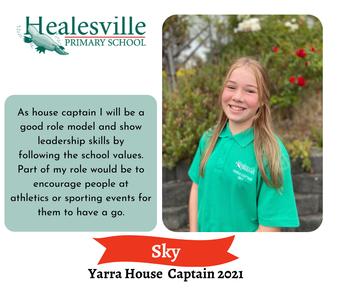 Sky – Yarra House Captain