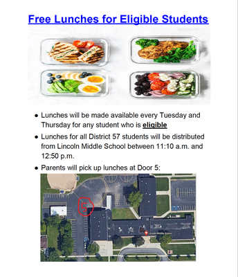 District 57 - Free Lunch for Eligible Students