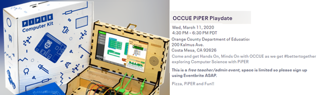 OCCUE Piper Playdate Registration