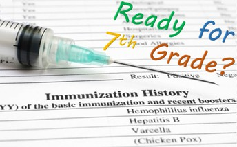 Immunization Reminder for Incoming 7th graders