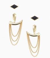Drape Ear Jacket - Gold