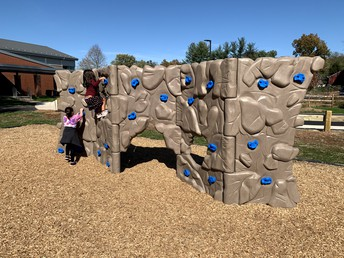 The Rock wall.