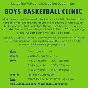 Boys Basketball Clinic 2018
