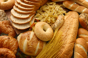 Breads and baked goods contain gluten.