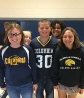 6th Grade School Spirit!  Go Blue!