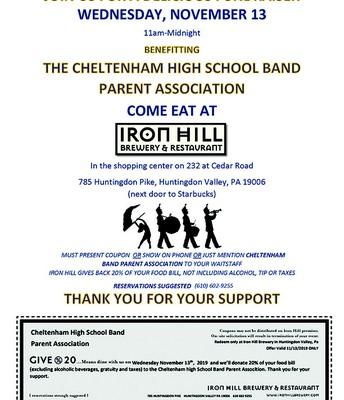 CHS Band Ironhill Fundraiser
