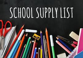 School Supply List for 2020-21