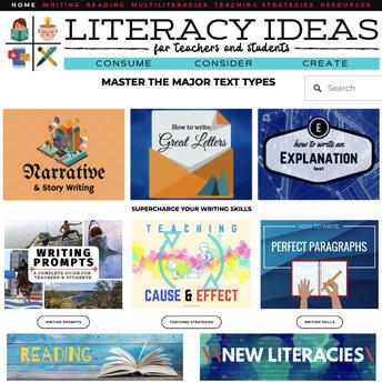 Literacy Ideas site screenshot