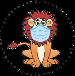 Komensky Lions Wear Masks