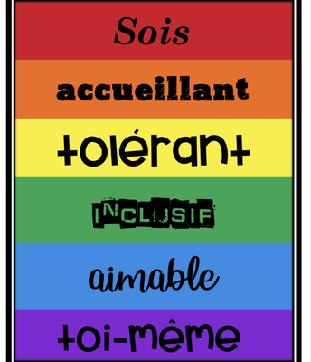 Be welcoming poster - French
