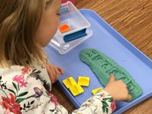 Name practice in Play-doh