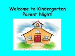 Kindergarten Parent Night