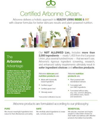 Certified Arbonne Clean (Optional)