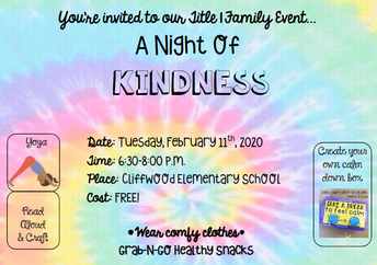 Title 1 family night on 2/11