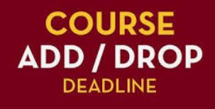 Add/Drop Deadline is October 18th