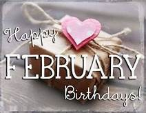 February Birthdays: