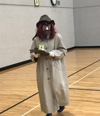 Detective Q always observing for quiet classrooms