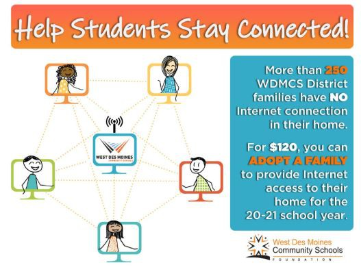 WDMCS Foundation Adopt-a-Family graphic