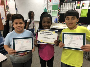 Celebrating AVID Student of the Month and Character Award winners!!