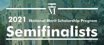 Congratulations National Merit Semifinalist
