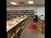 New and Award Books Greet Students at HHS Library Entrance