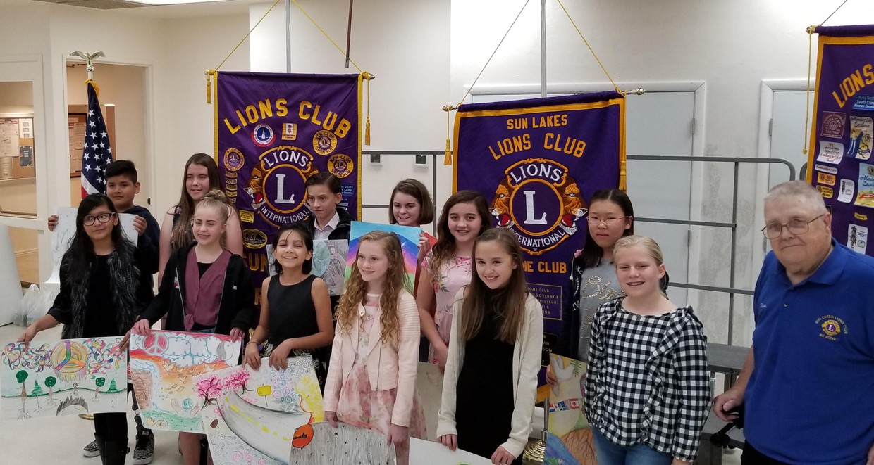 Sun Lake Lions Club Peace Poster Contest