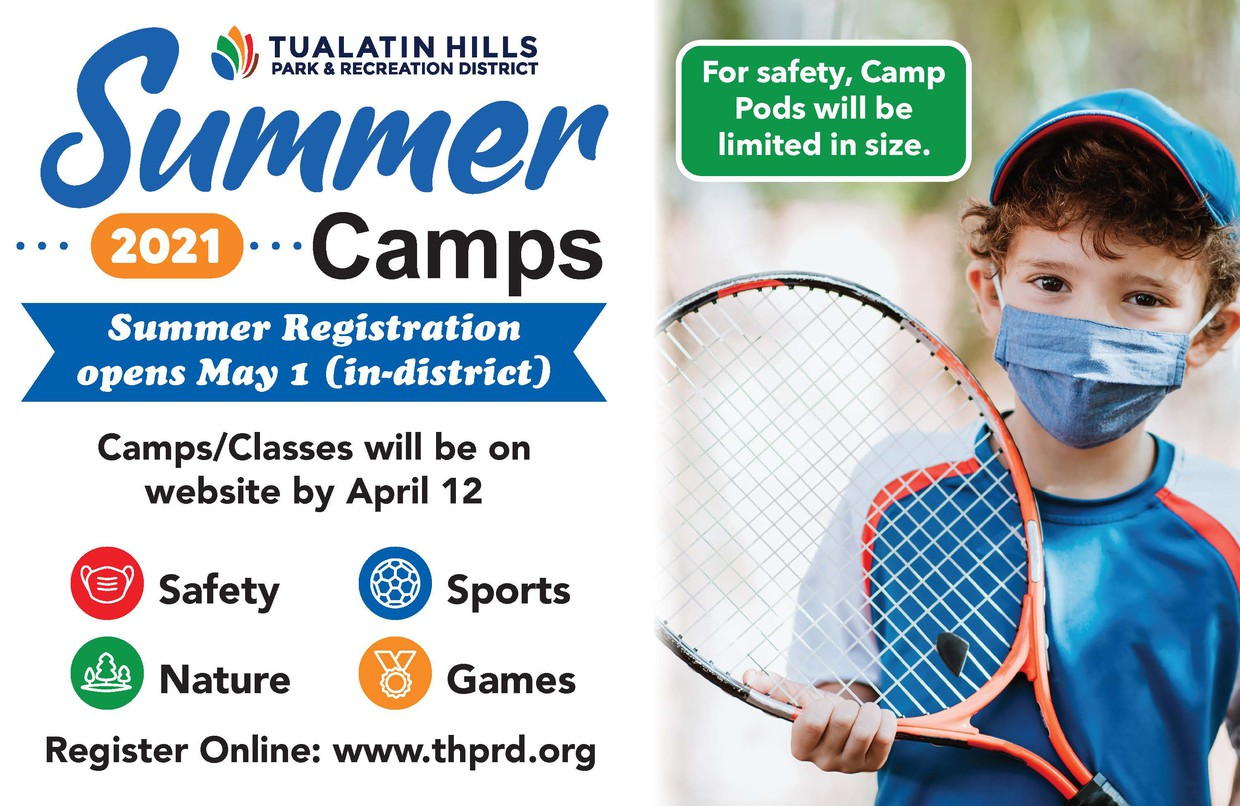 THPRD Summer Camp graphic