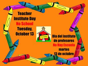 martes 13 de octubre no hay clases