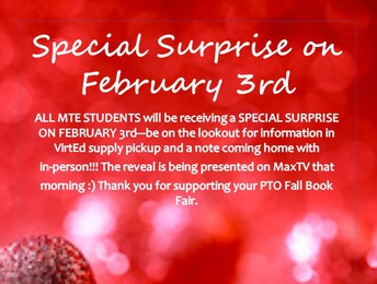 Special Surprise on February 3rd