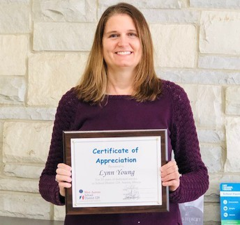 Congratulations on 25 Years in District #129-Mrs. Young, Science Teacher