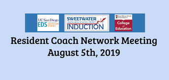 Resident Coach Network Meeting: August 5, 2019