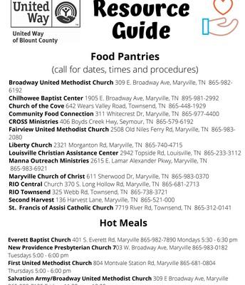 FOOD PANTRIES & HOT MEALS
