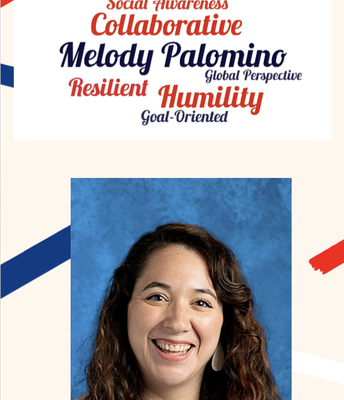 Support Staff Member of the Year: Melody Palomino!
