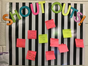 Students give each other shout outs in Mrs. Warren's class.