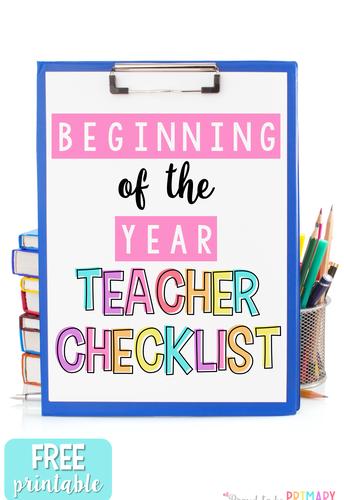 Beginning of Year Checklist (B.O.Y.)