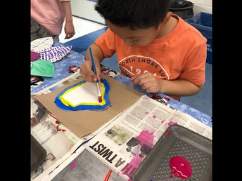Painting flower petals for spring!