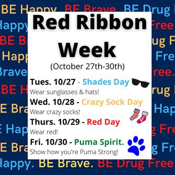Red Ribbon Week  October 27-30