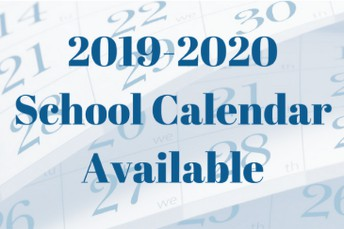 2019-2020 Calendar Now Available!