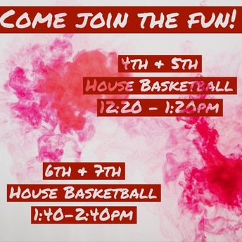 House Basketball Tournament TOMORROW 11/5